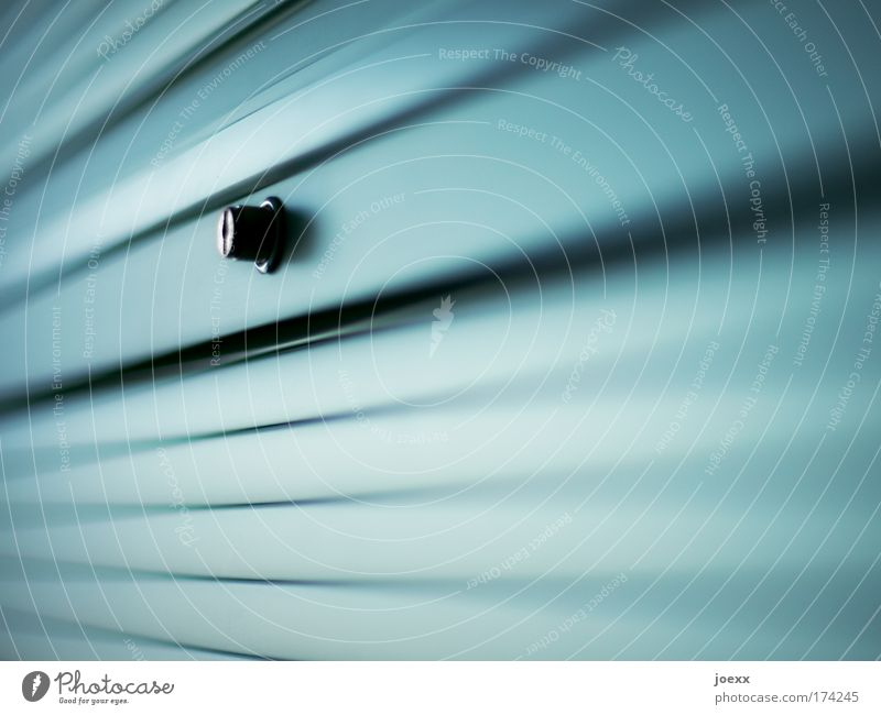 Blue Green Cold Metal Closed Modern Safety Near Mysterious Trust Venetian blinds Lock Cupboard Closing time Slat blinds