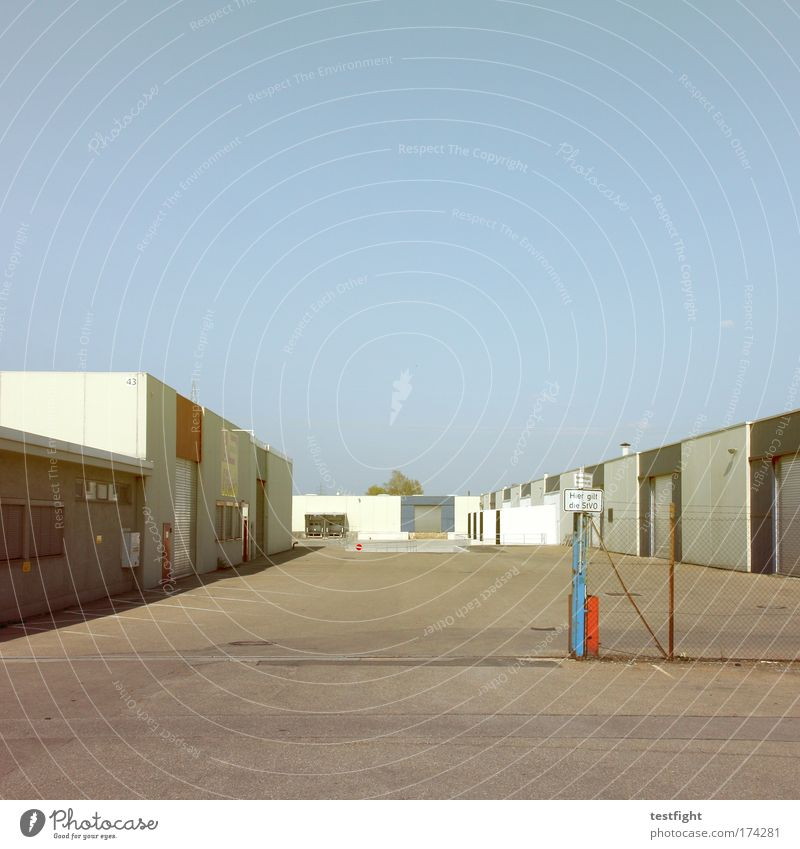 drive Colour photo Exterior shot Copy Space top Day Central perspective Economy Industry Logistics Company Industrial plant Factory Warmth Interior courtyard