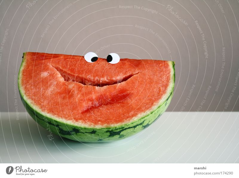 Green Summer Red Joy Face Eyes Emotions Laughter Happy Funny Healthy Moody Fruit Nutrition Food Happiness