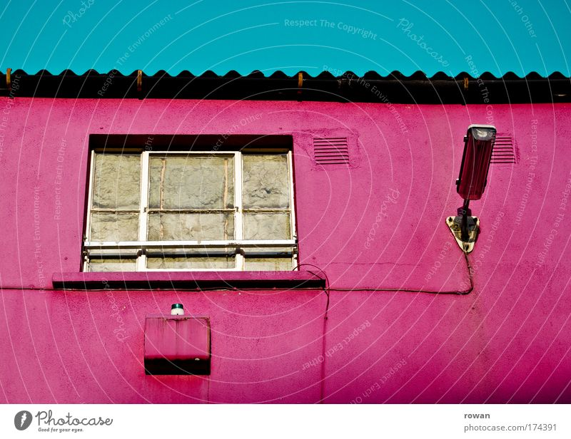Old Loneliness House (Residential Structure) Window Wall (building) Architecture Building Wall (barrier) Lamp Pink Facade Broken Exceptional Gloomy Retro
