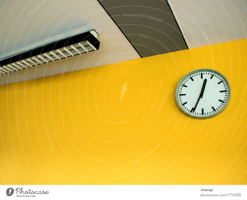 Yellow Style Office Business Lamp Work and employment Time Wait Design Esthetic Crazy Interior design Clock Lifestyle Clean Meeting