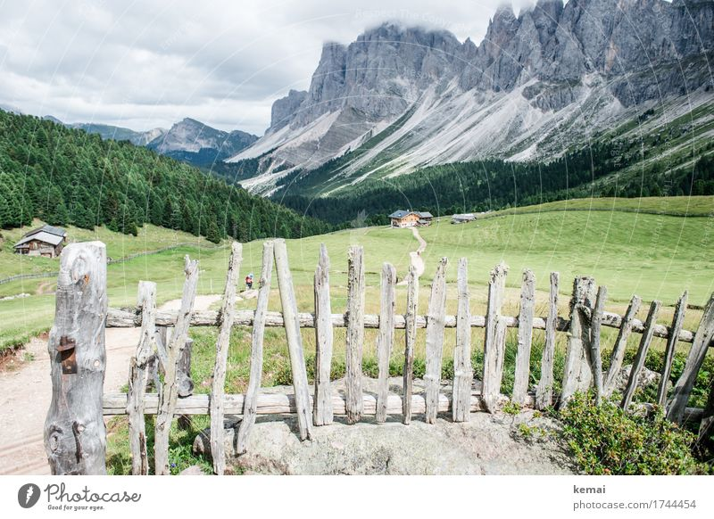 The fence and the hiker Life Harmonious Well-being Contentment Senses Relaxation Calm Leisure and hobbies Vacation & Travel Tourism Trip Adventure