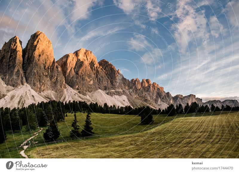 Sky Nature Vacation & Travel Summer Tree Landscape Clouds Calm Far-off places Forest Mountain Environment Lanes & trails Meadow Freedom Rock