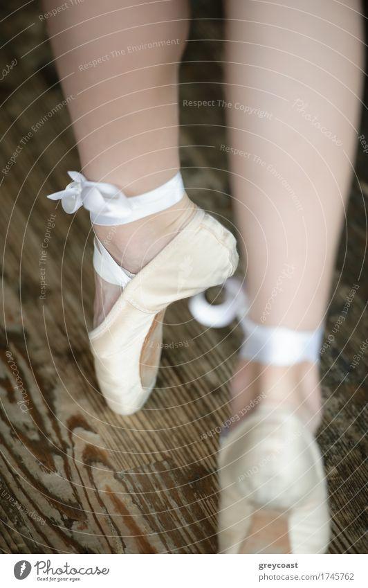 Ballerina legs on tiptoe Human being Youth (Young adults) Beautiful Girl Feet 13 - 18 years Elegant Footwear Dance Academic studies Story Vertical Ballet Dancer