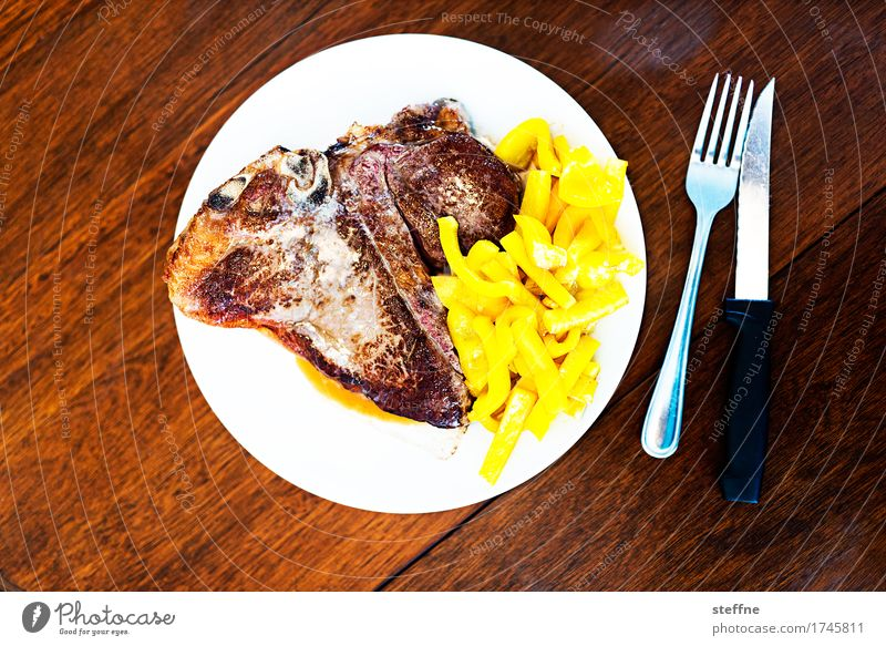 Food Photo IV Healthy Eating Dish Food photograph Nutrition Unhealthy Meat Steak Barbecue (event) BBQ Cooking Frying Cattle American Cuisine Pepper Cutlery