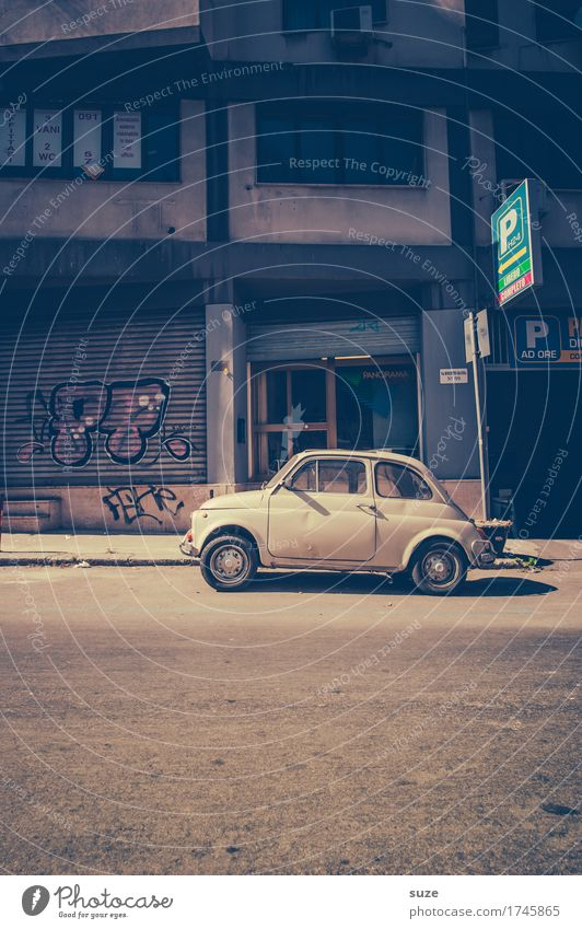 Vacation & Travel Street Small Time Tourism Design Transport Car Retro Europe Culture Italy Cute Past Hip & trendy Traffic infrastructure