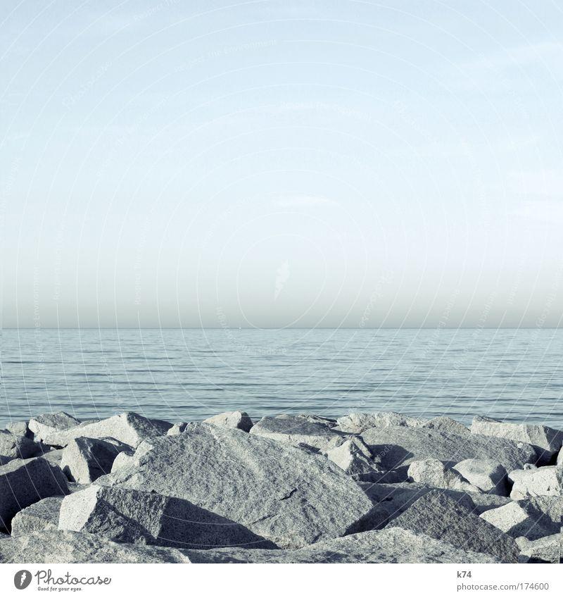 Nature Water Beautiful Sky Ocean Calm Far-off places Freedom Stone Landscape Power Coast Elegant Horizon Peace Elements