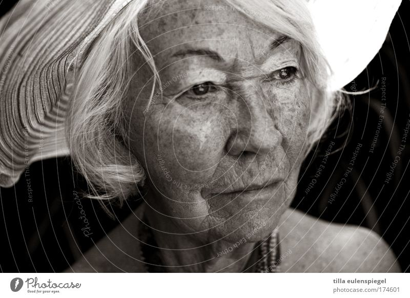 Human being Beautiful Old Calm Senior citizen Feminine Portrait photograph Observe Transience Grandmother Serene Caution Wisdom Patient Grandparents