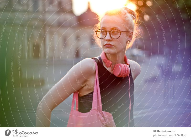 Alexa Cityhipster. Human being Feminine Young woman Youth (Young adults) Face 1 18 - 30 years Adults Town Downtown Church Dome Places Building Piercing