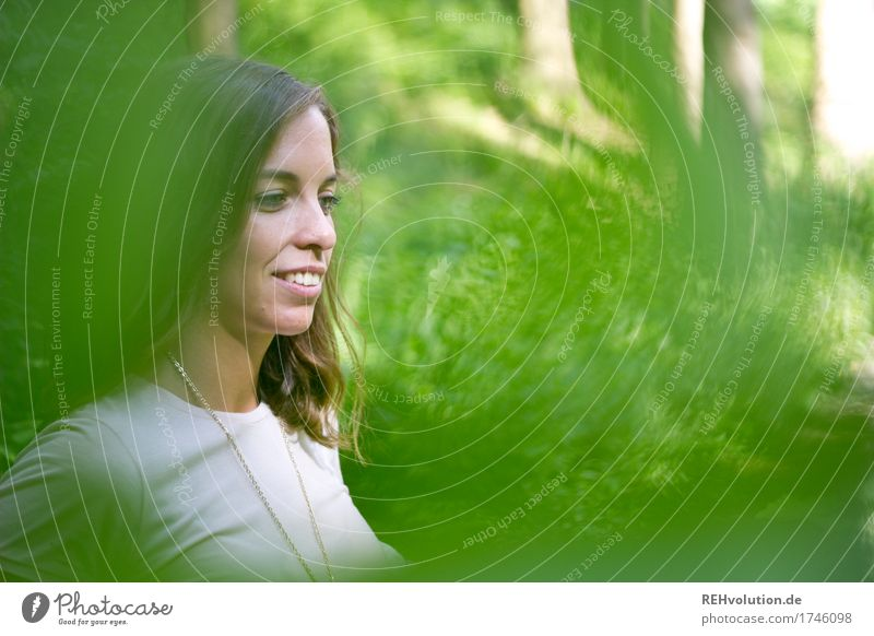 Julia in the woods. Human being Feminine Young woman Youth (Young adults) Face 1 18 - 30 years Adults Environment Nature Landscape Plant Tree Forest Brunette