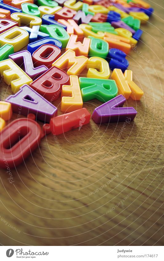 letters Colour photo Interior shot Copy Space bottom Playing Children's game Parenting Education Kindergarten School Study Toys Discover Write Multicoloured