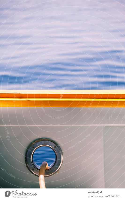 Water with hole. Art Esthetic Summer Summer vacation Summer's day Ocean Sea water Strait Marine research Surface of water Porthole Navigation Watercraft Deck