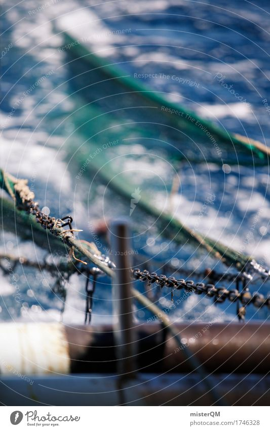 Fishing. Art Nature Water Esthetic Fisherman Fishery Fishing boat Fishing net Net Ocean High sea Deep-sea fishermen Colour photo Multicoloured Exterior shot