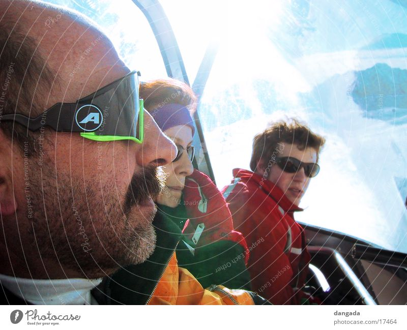 just cool 1 Winter vacation Sunglasses Facial hair Chair lift Silhouette Group Cool (slang) Profile