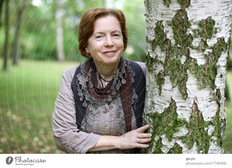 Human being Woman Nature Plant Tree Hand Landscape Forest Adults Environment Life Senior citizen Meadow Feminine Laughter Happy