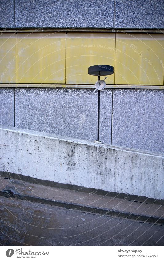 Old City Yellow Wall (building) Architecture Gray Wall (barrier) Dirty Concrete Authentic Section of image Parking garage Ramp Concrete wall
