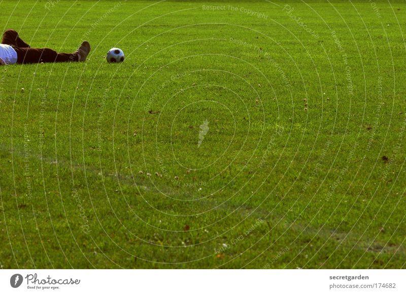 Human being Sports Legs Feet Lie Soccer Masculine Soccer player Sports Training Sportsperson Goalkeeper