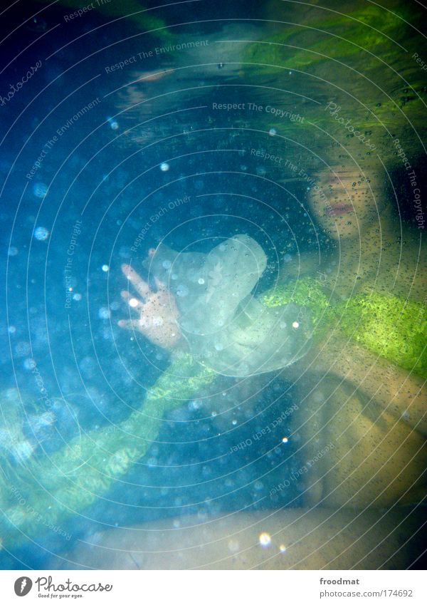 nothing to see Colour photo Underwater photo Flash photo Upper body Style Exotic Wellness Life Well-being Relaxation Calm Whirlpool Swimming & Bathing