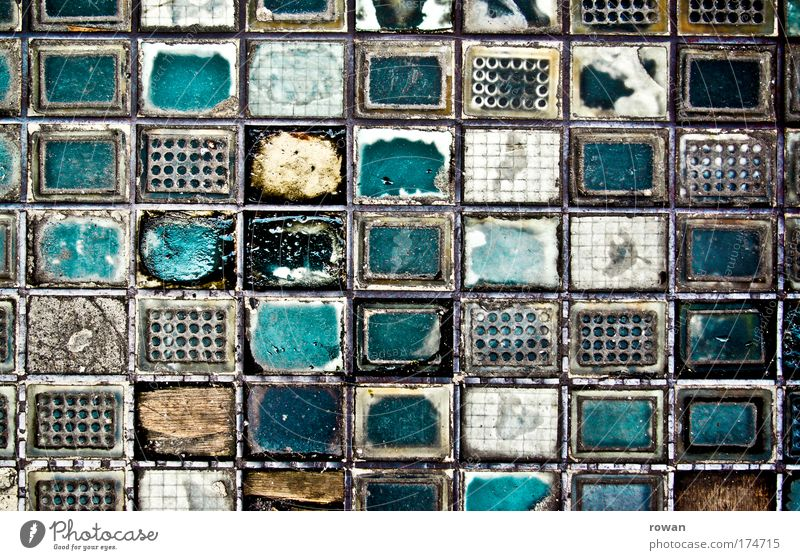 enqueue Colour photo Exterior shot Abstract Pattern Structures and shapes Deserted Day Stone Concrete Glass Steel Rust Old Broken Chaos Art Arrangement