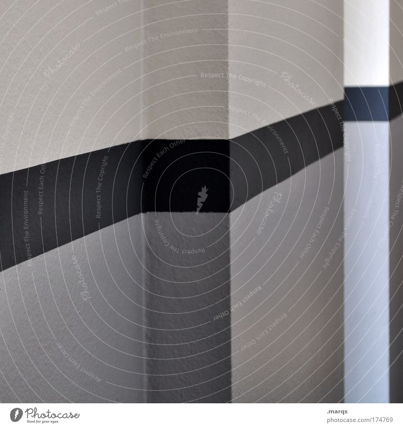 Black Wall (building) Style Gray Wall (barrier) Building Line Architecture Design Elegant Simple Clean Stripe Interior design Illustration Geometry