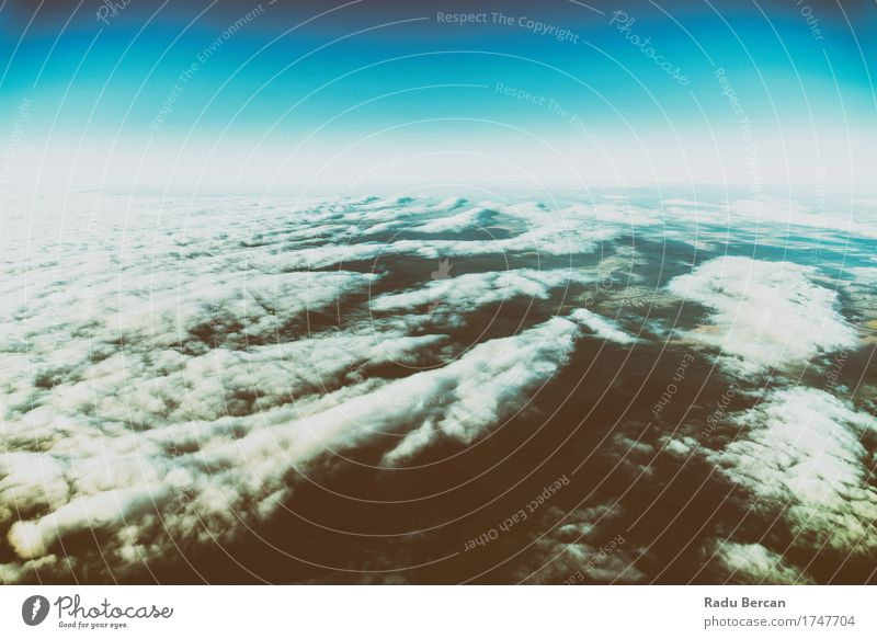 Earth Horizon Photo From 35.000 Feet Altitude Vacation & Travel Trip Adventure Freedom Expedition Summer Environment Nature Landscape Air Sky Clouds Sunlight