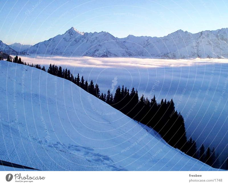 alpine landscape Fog Alps Mountain Blue