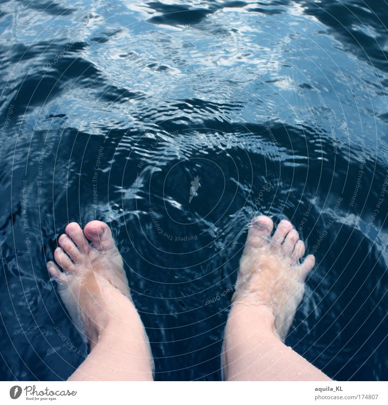 hui cold Legs Feet Swimming & Bathing Toes Water Waves Wave action Foot bath Barefoot Colour photo Exterior shot Copy Space top