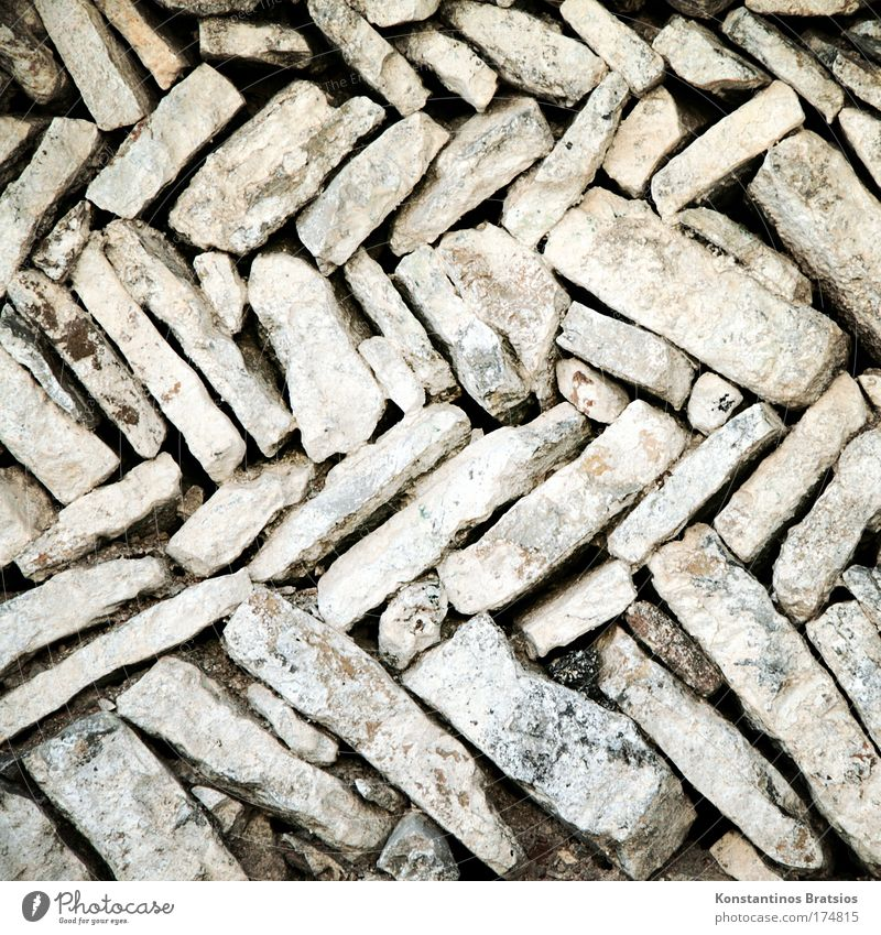 Old Wall (building) Stone Wall (barrier) Sand Dirty Dry Hard Sharp-edged Granite Zigzag Stone slab Building stone Stone wall Natural stone
