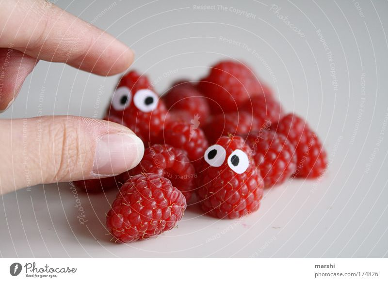 Red Joy Eyes Nutrition Human being Berries Fear Healthy Funny Small Eating Food Fruit Fingers Plant Sweet