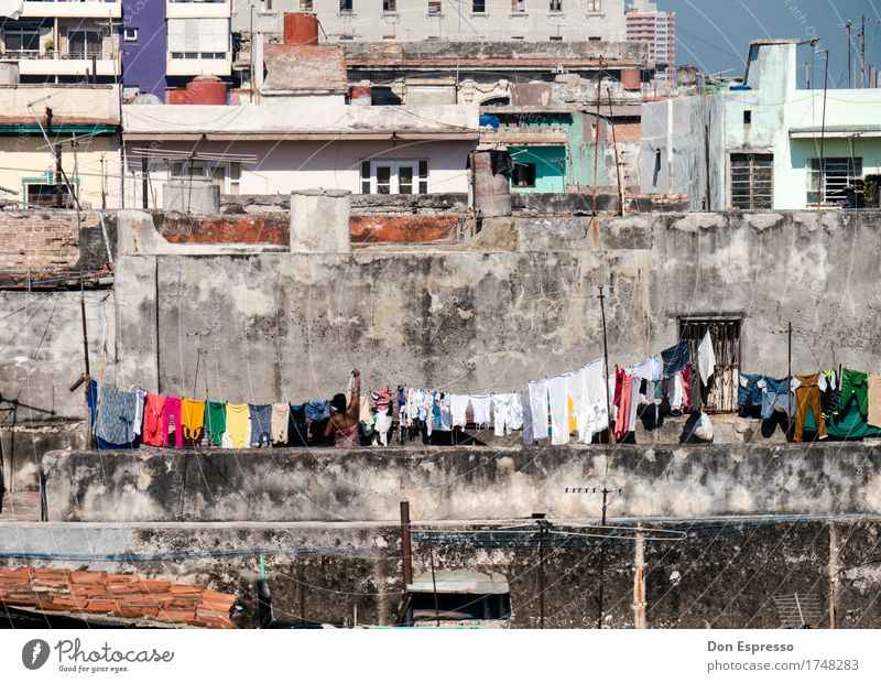 washing day Living or residing Human being Feminine Woman Adults Mother 1 Town Overpopulated House (Residential Structure) Wall (barrier) Wall (building) Facade