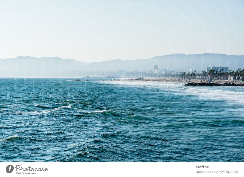 west coast Nature Landscape Water Cloudless sky Summer Beautiful weather Mountain Waves Coast Ocean Tourism Vacation & Travel Surfing Swimming & Bathing