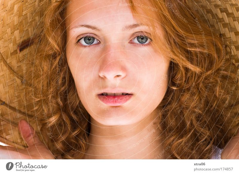 summer girl Colour photo Exterior shot Sunlight Portrait photograph Looking Looking into the camera Forward Human being Feminine Young woman