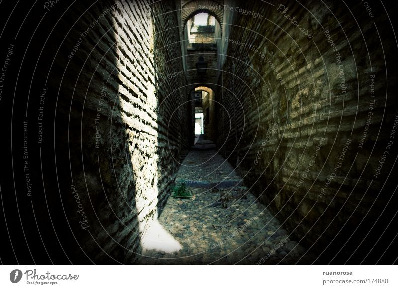 Old City Architecture Tunnel Brick Historic Rock arch Alley Old town Cordoba Rock formation No through road