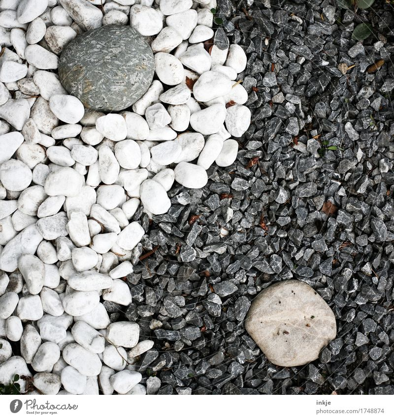 yin and yang Yin and Yang Pebble Stone Sign Ornament Gray Black White Esthetic Contentment Relationship Complex Creativity Life Religion and faith Change Taoism