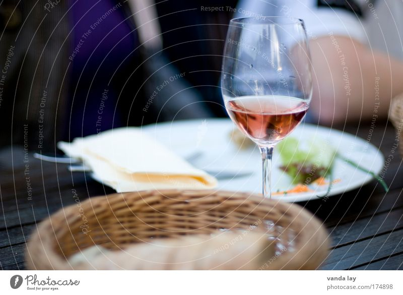 meal Colour photo Exterior shot Close-up Day Shallow depth of field Food Bread Nutrition Slow food Italian Food Beverage Alcoholic drinks Wine Lifestyle Luxury
