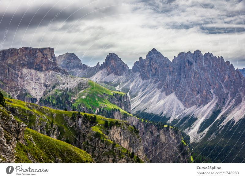 mountain worlds Nature Landscape Elements Sky Clouds Summer Bad weather Meadow Field Forest Hill Rock Alps Mountain Peak Hiking Massive Gravel Scree Point