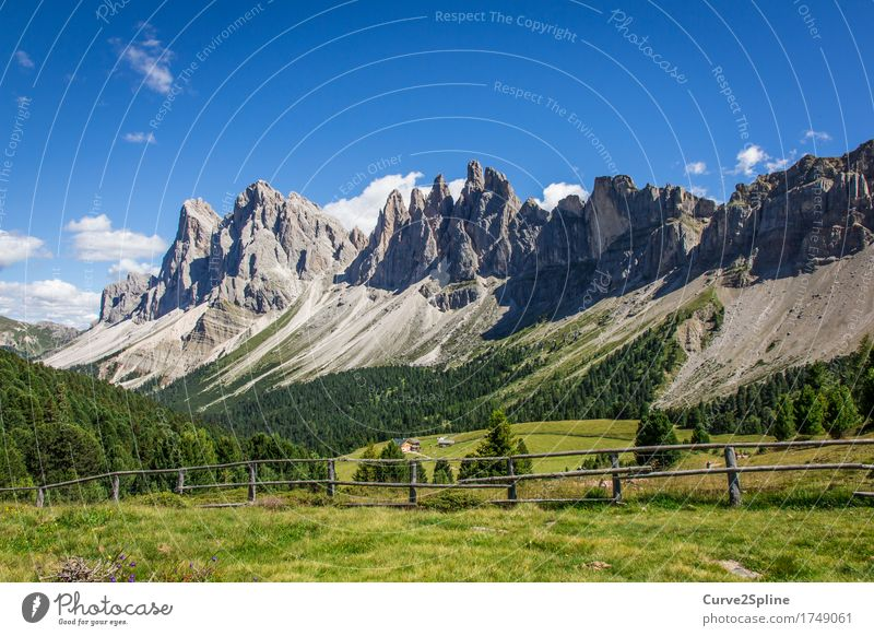 Alpine Worlds Nature Landscape Elements Sky Clouds Meadow Field Forest Hill Rock Alps Mountain Peak Hiking Massive Gravel Scree Stony South Tyrol Dolomites
