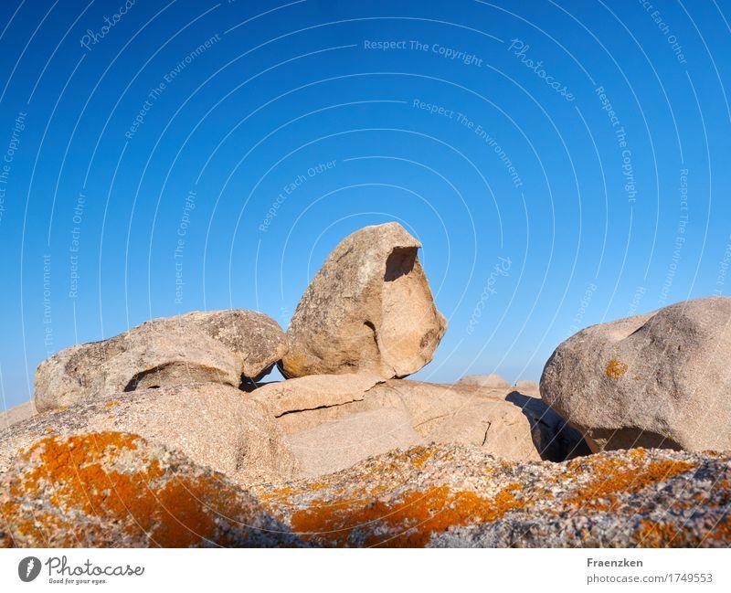 Rocks at Palombaggia beach Vacation & Travel Summer Landscape Sky Cloudless sky Sunlight Round Patient Calm Endurance Unwavering Power Blue sky Koriska France