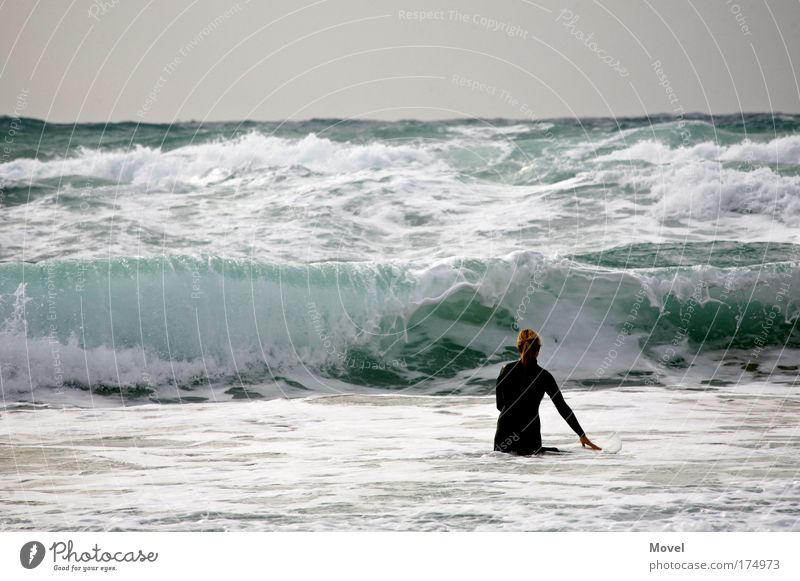 Surfing Tel Aviv Lifestyle Happy Leisure and hobbies Vacation & Travel Freedom Summer Sun Beach Ocean Waves Aquatics Human being 1 Water Sky Horizon Weather