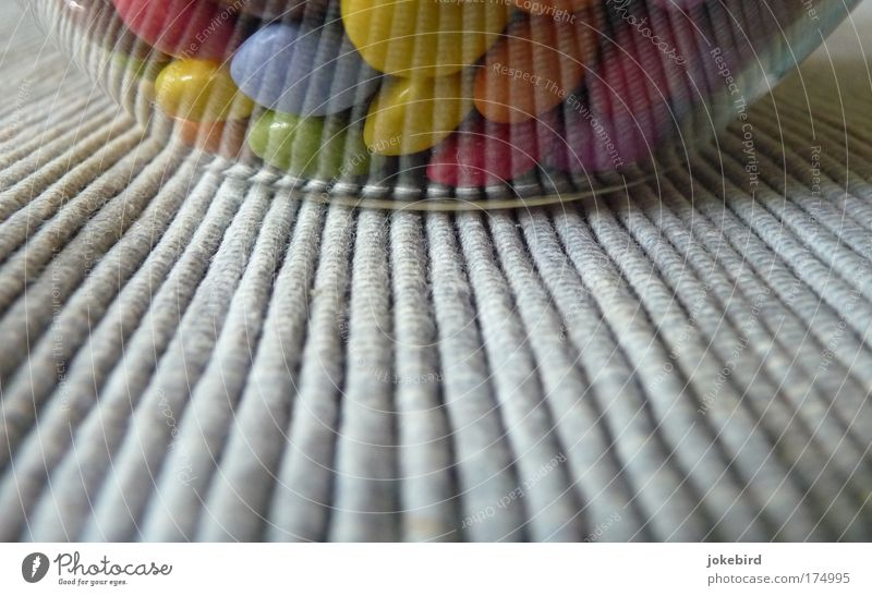 Colour Line Funny Glittering Glass Sweet Round Stripe Infancy Delicious Candy Medication Chocolate Bowl Smoothness Brash