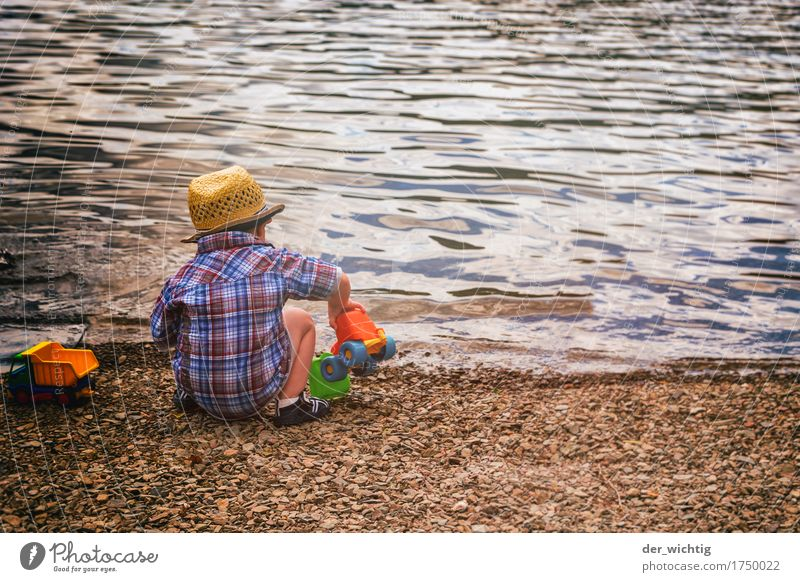 Human being Child Vacation & Travel Summer Water Sun Ocean Relaxation Beach Warmth Boy (child) Playing Lake Waves Body Infancy