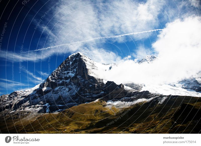 eiger north wall Day Vacation & Travel Tourism Trip Far-off places Freedom Sightseeing Expedition Summer Summer vacation Sun Mountain Mountaineering Nature