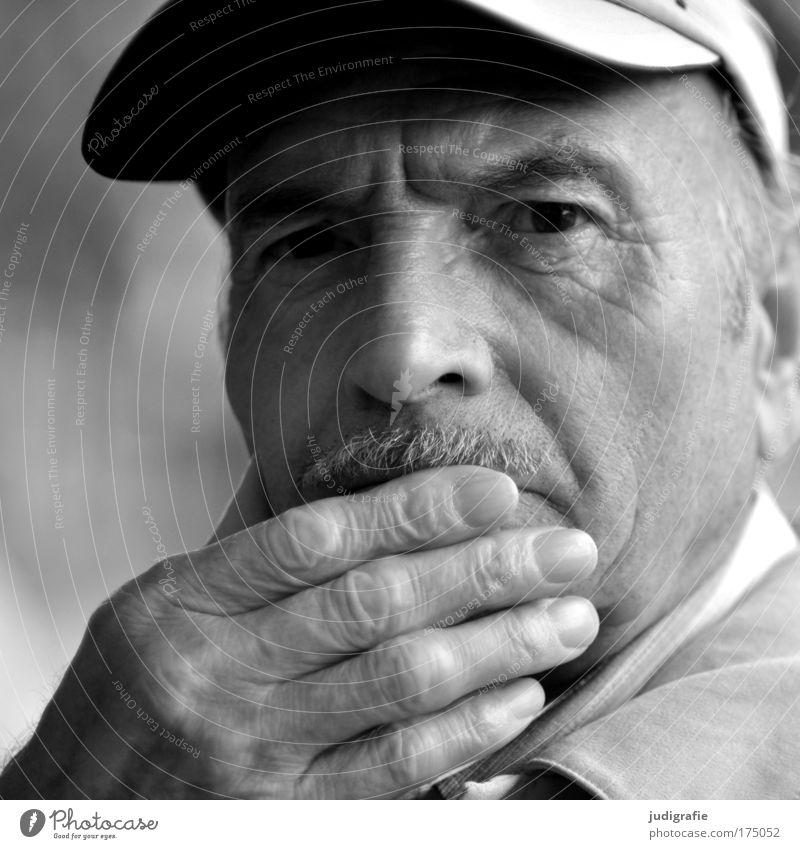Human being Man Hand Calm Adults Head Senior citizen Think Masculine Meditative Curiosity Trust Serene Grandfather Interest Safety (feeling of)