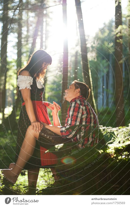 Human being Nature Vacation & Travel Youth (Young adults) Young woman Young man Forest Adults Life Love Feminine Style Couple Tourism Masculine Trip