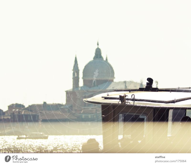 Vacation & Travel Warmth Church River Italy Joie de vivre (Vitality) Skyline Navigation Beautiful weather Venice Ferry Famousness Tourist Attraction City trip Port City Passenger ship