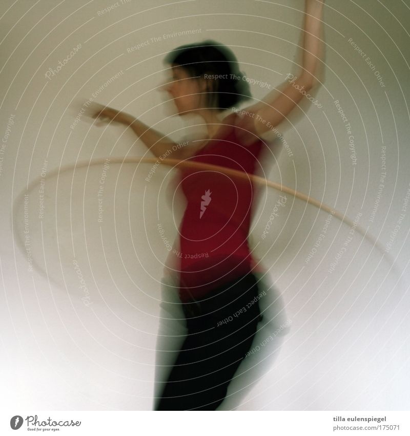 Woman Human being Youth (Young adults) Life Feminine Sports Playing Movement Adults Action Fitness 18 - 30 years Motion blur Hula hoop