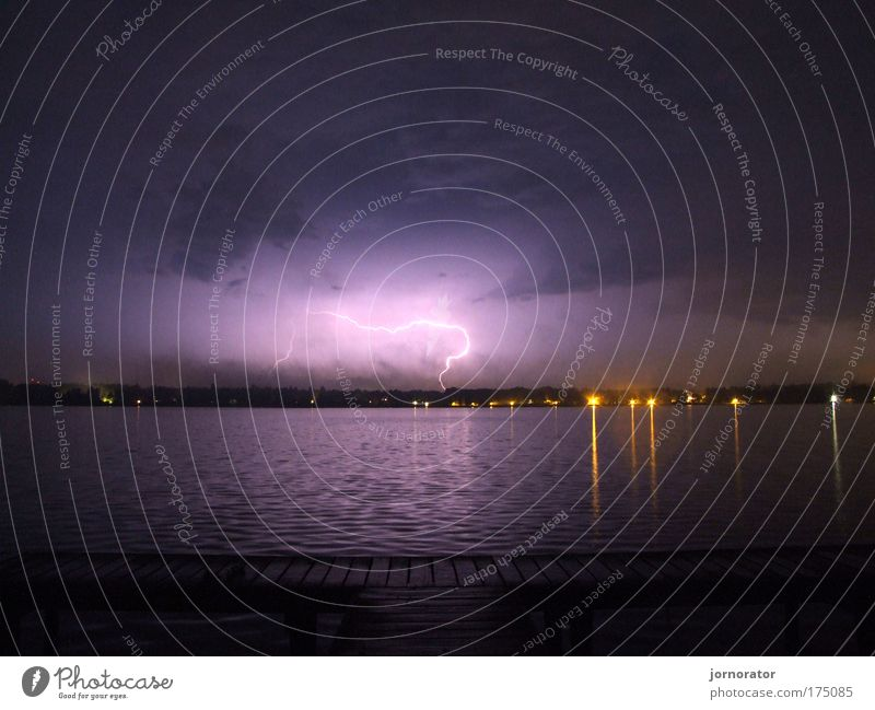 At the Wand(B)litz lake Exterior shot Deserted Copy Space top Copy Space bottom Night Long exposure Nature Elements Water Storm clouds Summer