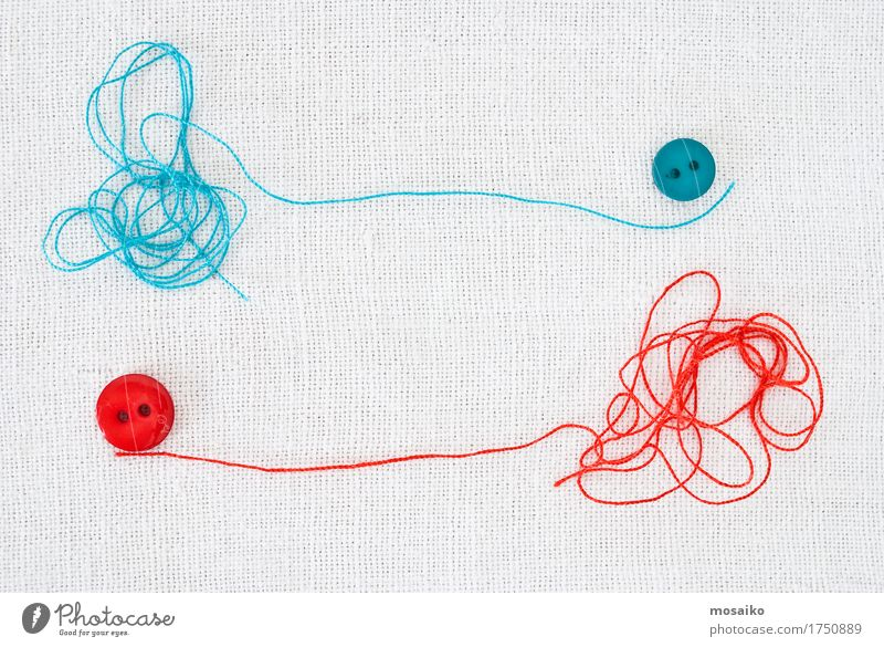 threads and buttons Blue White Red Style Fashion Work and employment Design Leisure and hobbies Contentment Creativity Idea Clothing String