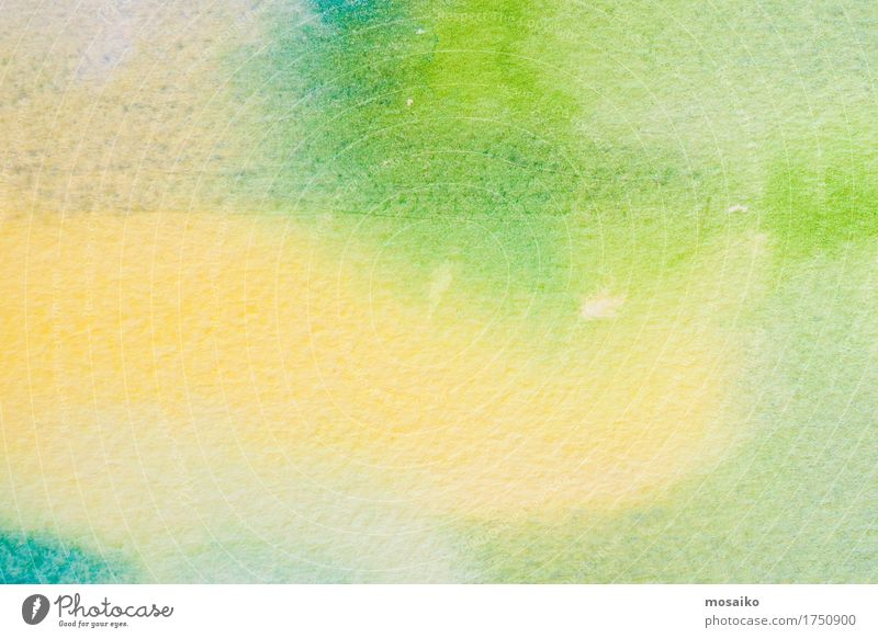 green and yellow watercolors on textured paper Colour Green Beautiful Calm Yellow Style Art Design Leisure and hobbies Decoration Esthetic Creativity Retro Fantastic Idea Paper