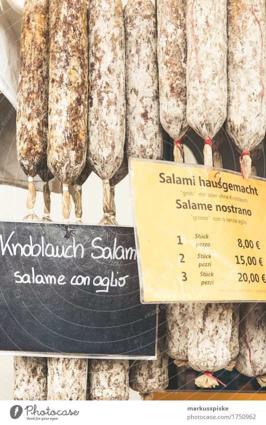 south tyrolean salami weekly market Food Meat Sausage Salami Garlic South Tyrol Farmer's market Farmers market Tradition Specialities Lifestyle Shopping